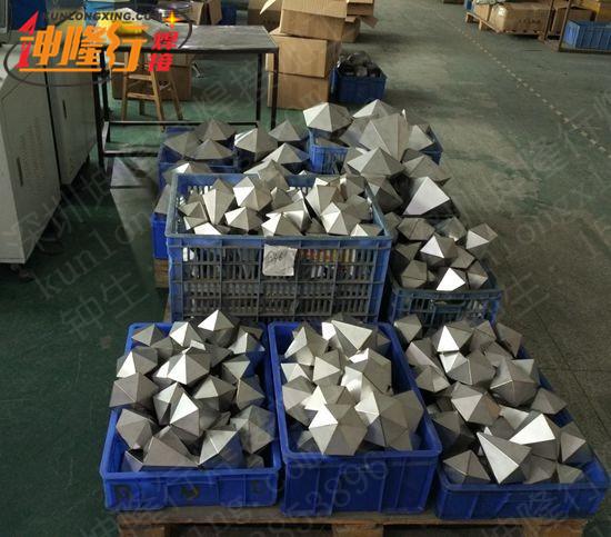 深圳布吉菱锥体工艺品激光连续焊密封焊加工